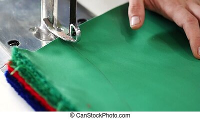 close up of industrial cutting process - close up of...