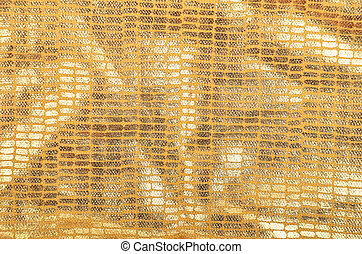 Golden brocade background - Golden textured brocade cloth...