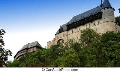Karlstejn medieval Castle. Bohemia, Czech Republic -...