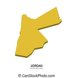 Isometric map of Jordan detailed vector illustration...