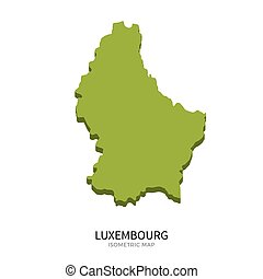 Isometric map of Luxembourg detailed vector illustration....