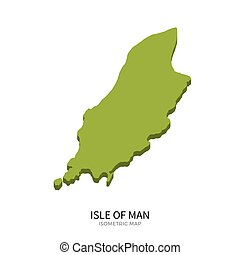 Isometric map of Isle of Man detailed vector illustration....