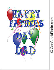 happy fathers day dad - text of happy fathers day with stars...