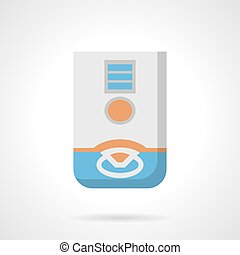 Domestic dehumidifier flat color vector icon - Household...