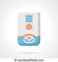 Domestic dehumidifier flat color vector icon - Household...