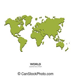 Isometric map of World detailed vector illustration....