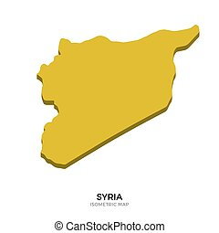 Isometric map of Syria detailed vector illustration....