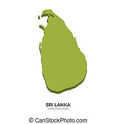 Isometric map of Sri Lanka detailed vector illustration....