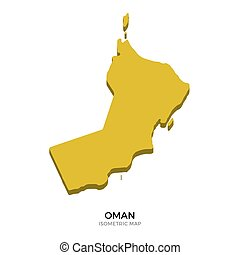 Isometric map of Oman detailed vector illustration Isolated...