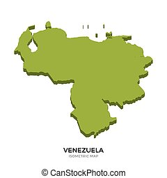 Isometric map of Venezuela detailed vector illustration....