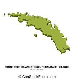 Isometric map of South Georgia and the South Sandwich...