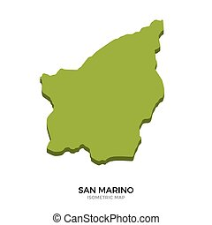 Isometric map of San Marino detailed vector illustration...