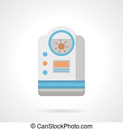 Room humidifier flat color vector icon - Colorful...
