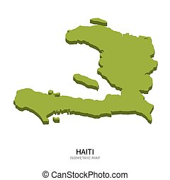 Isometric map of Haiti detailed vector illustration....