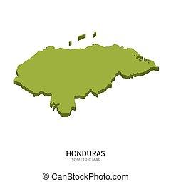 Isometric map of Honduras detailed vector illustration....
