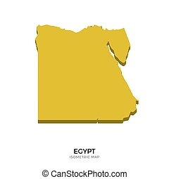 Isometric map of Egypt detailed vector illustration....