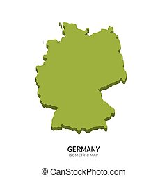 Isometric map of Germany detailed vector illustration....