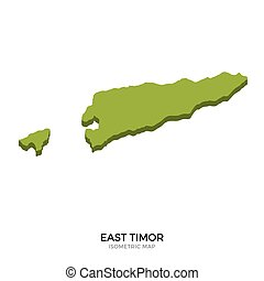 Isometric map of East Timor detailed vector illustration...