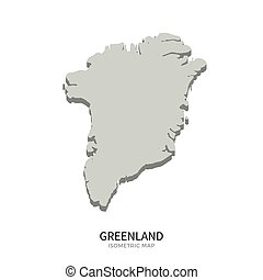 Isometric map of Greenland detailed vector illustration....