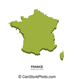 Isometric map of France detailed vector illustration...