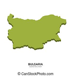 Isometric map of Bulgaria detailed vector illustration...