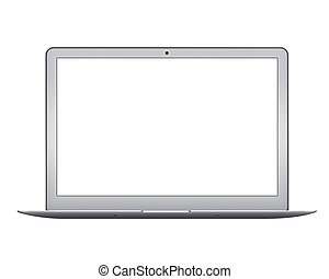 Apple MacBook Air notebook computer mockup - Isolated Apple...