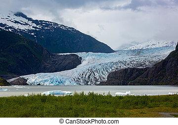 Mendenhall Glacier Near Juneau in Alaska - Mendenhall Valley...