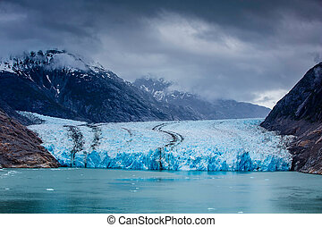 South Dawes Glacier from the Endicott Arm near Juneau in...