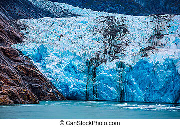 South Dawes Glacier in the Endicott Arm - Detail of South...