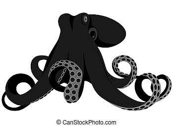 Octopus - Vector octopus represented in the form of a tattoo...