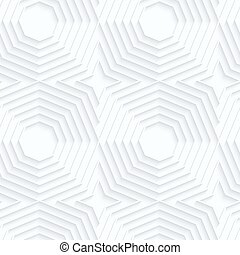 Quilling paper offset octagonsWhite geometric background...