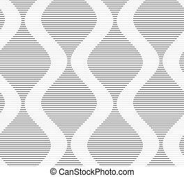 Shades of gray striped bulging wavesSeamless stylish...