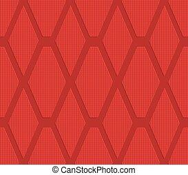 Red checkered diamonds
