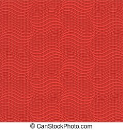 Red striped vertical waves