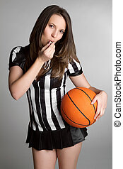 Basketball Referee Girl - Sexy basketball referee girl...