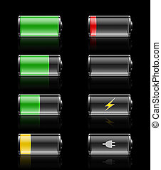 Batteries charges - Batteries with various charges from...