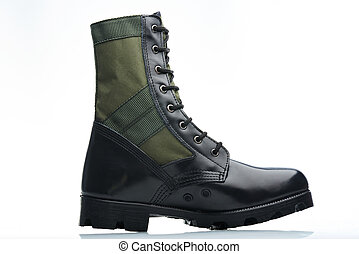 tall men boot - tall men leather green black boot militar...