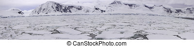 Panorama of pack ice field, Antarctica