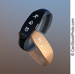 Smart bands with rubber bracelet