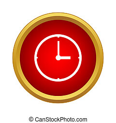 Clock Icon, simple style - Clock Icon in simple style...