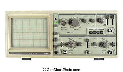 Old analogue oscilloscope - The old analogue measuring...