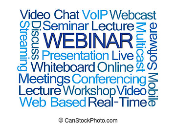 Webinar Word Cloud on White Background