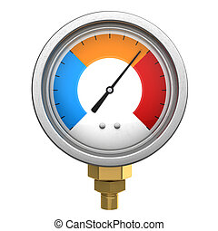 manometer - 3d illustration of manometer or temperature...