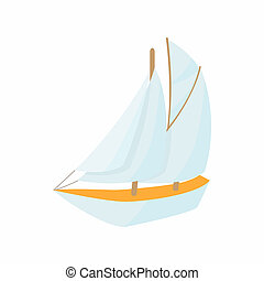 Boat icon, cartoon style - Boat icon in cartoon style...