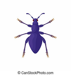 Bug icon, cartoon style - Bug icon in cartoon style isolated...