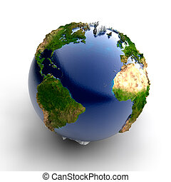 Miniature real Earth - Exaggerated metaphor of the day and...