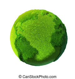 Green Earth, covered with grass - The metaphor of the Green...