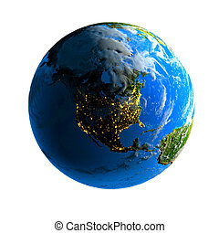 Exaggerated metaphor of the day and night on the globe