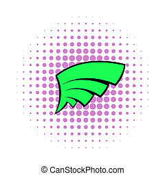 Wing icon, pop-art style - Wing icon in pop-art style for...