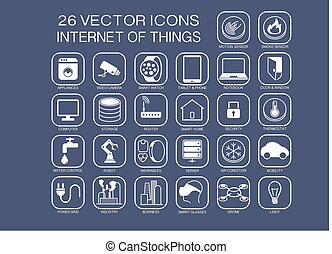 vector icons for internet of things